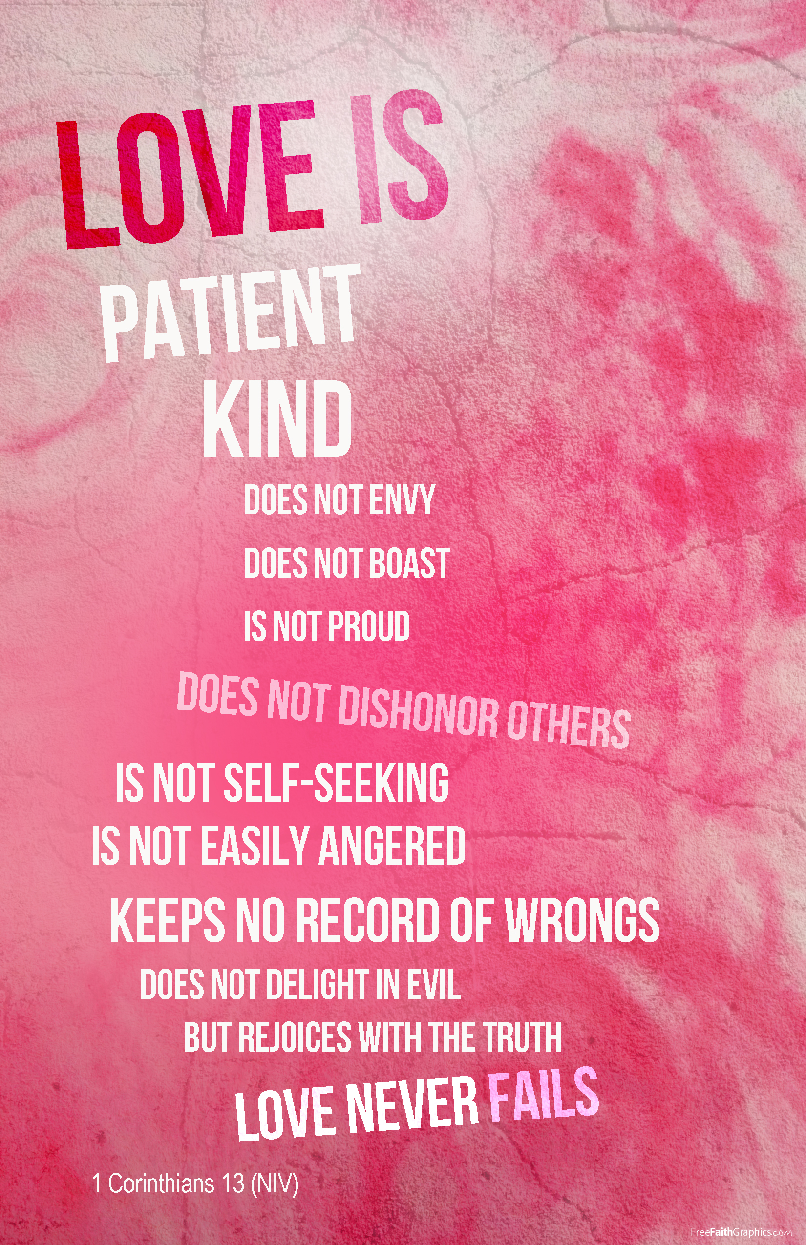 Love Is Patient Love Is Kind Quote Love Is Patient  Freefaithgraphics
